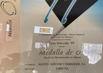 Medalla de Oro Gran Selección de Castilla-La Mancha 1999